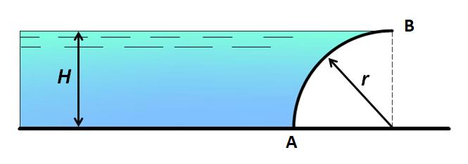 Задача на криволинейную поверхность